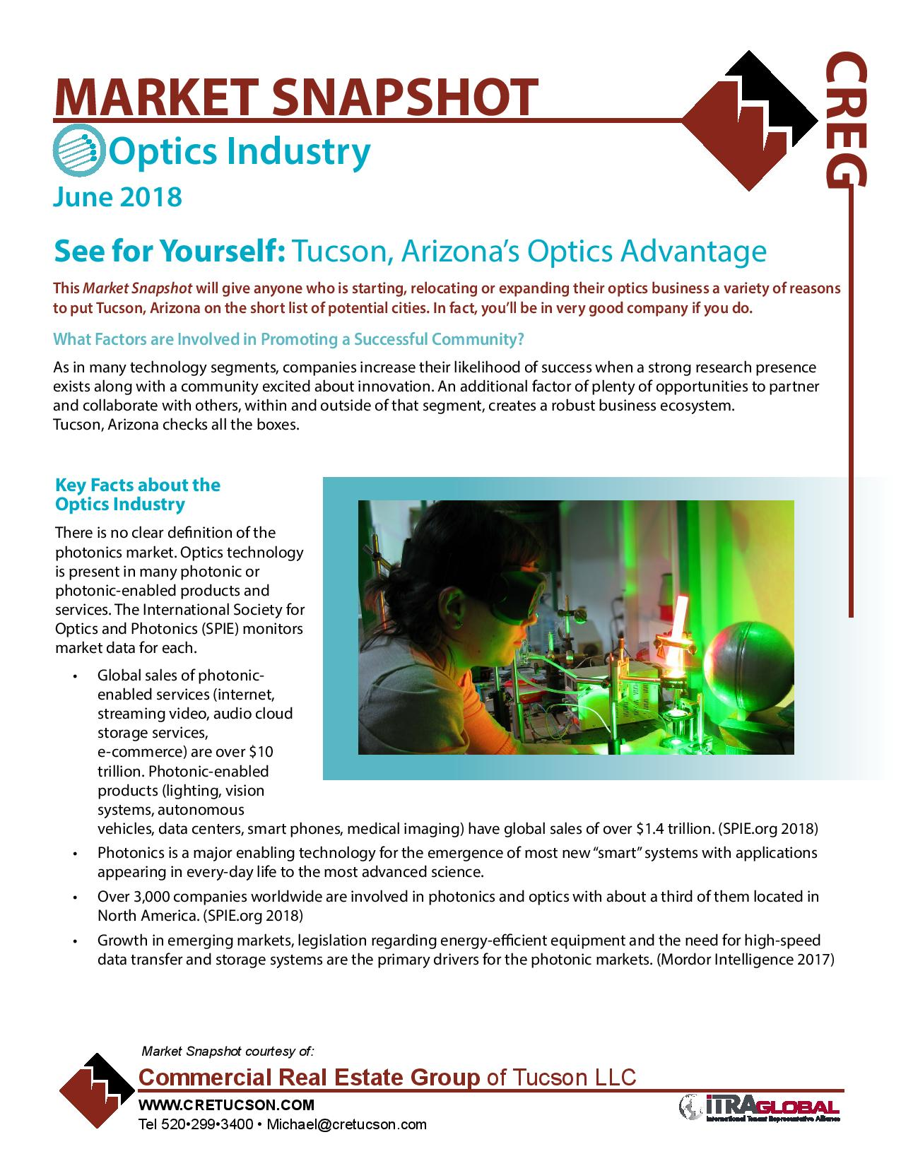 Optics Industry Market Snapshot - Tucson, Arizona