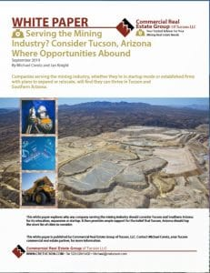 Cover of Tucson mining white paper
